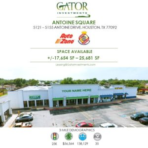 space for lease in Houston, TX