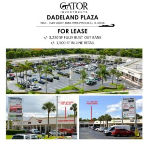 Bank For Lease in Pinecrest, FL