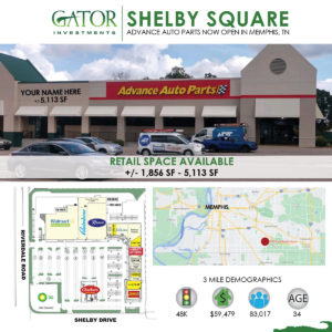 Retail Space For Lease in Memphis, TN
